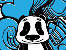 A Panda's Journey T-Shirt Design by