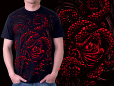 Evil Octopus T-Shirt Design by