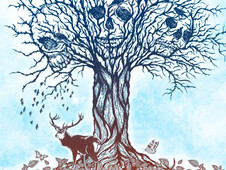 the tree life of death T-Shirt Design by