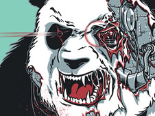 Cyborg Panda T-Shirt Design by