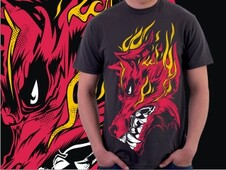 Fire Wolf T-Shirt Design by