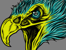 Eagle Skull Head T-Shirt Design by