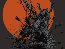 The Last  Samurai T-Shirt Design by
