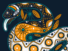 Rainbow Serpent T-Shirt Design by