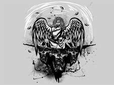 Angel Skulls T-Shirt Design by