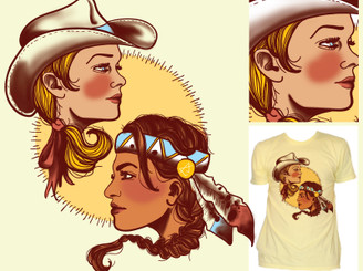 Cowgirl & Indian Princess by mezo
