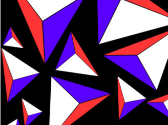 Abstract triangles by kebbz