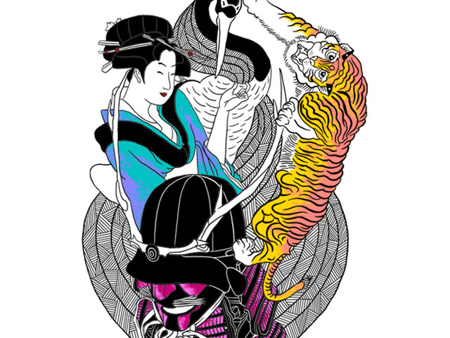 samurai and geisha