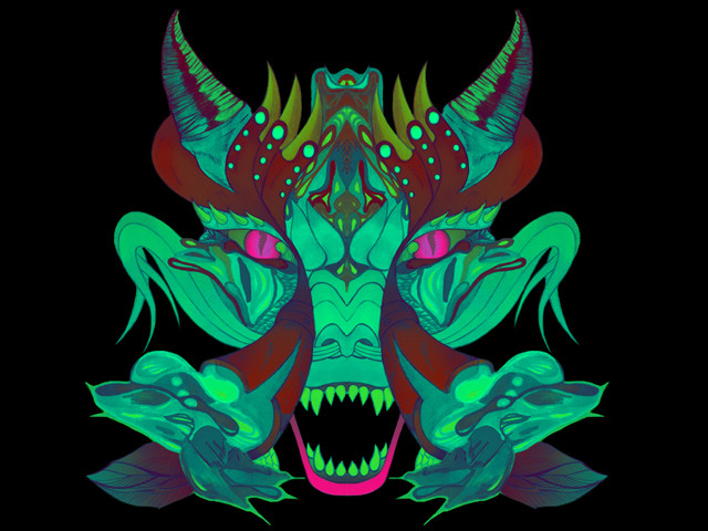 Neontic Dragon