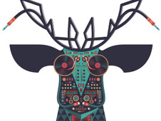 DJ Deer T-Shirt Design by