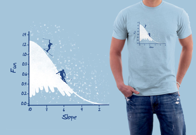 Skiing on a gaussian slope
