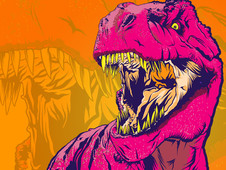 DINO FRENZY T-Shirt Design by