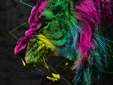 -=A Colorful Beast=- T-Shirt Design by