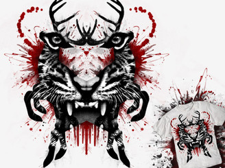 Predator ink blot by buko