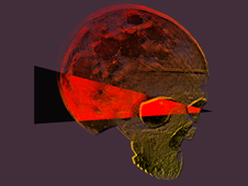 Moon Skull T-Shirt Design by