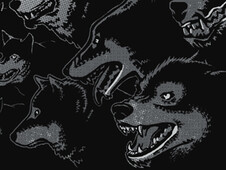 20 Wolves and Moon T-Shirt Design by