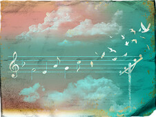 Music Gives Wings... T-Shirt Design by