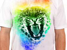 Cheetah Rainbow T-Shirt Design by