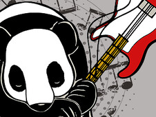 Rocker Panda! T-Shirt Design by