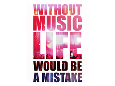 WITHOUT MUSIC LIFE WOULD BE A MISTAKE T-Shirt Design by