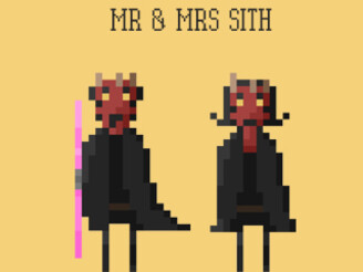 Mr & Mrs Sith by greatskybear