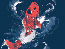 Magic Carp T-Shirt Design by