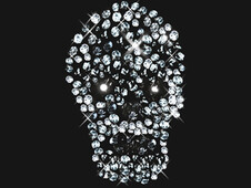 Diamonds Skull Hidden T-Shirt Design by