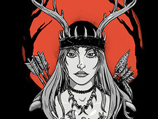 Huntress T-Shirt Design by