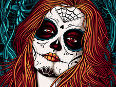 Day of the dead mask T-Shirt Design by