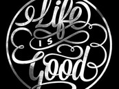 BigWes wearing Life is Good by twicolabs
