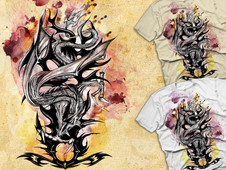 Dragon Attack T-Shirt Design by