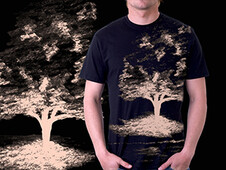 Tree on the pond T-Shirt Design by