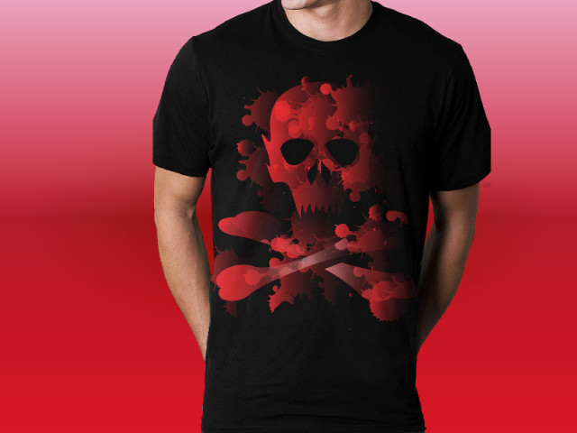 Red Scull Splatter