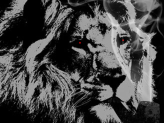 smoking lion by cyanide032