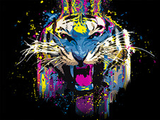 Funked Up Tiger T-Shirt Design by