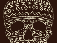 -Tribal Skull- T-Shirt Design by