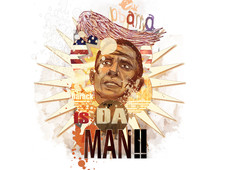 Obama is da man!! T-Shirt Design by
