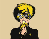 warhol eat banana by treecore