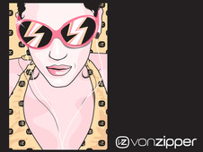 vonZIPPER its Cream T-Shirt Design by