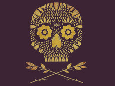 Organic Skull T-Shirt Design by