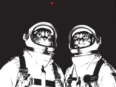 Catstronauts T-Shirt Design by