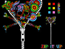 Zip It Up T-Shirt Design by
