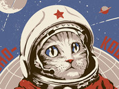 Soviet Space Cat by sketchboy01