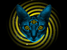Hypno Cat T-Shirt Design by