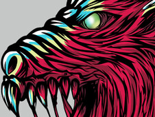 Wolf monster T-Shirt Design by
