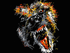 """wolf"" T-Shirt Design by"
