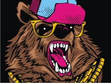 Bling Bling Bear T-Shirt Design by