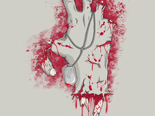 Blood and Bones for Peace T-Shirt Design by