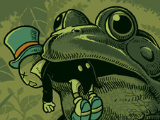 Frog Food T-Shirt Design by