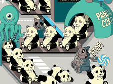 Panda Factory T-Shirt Design by